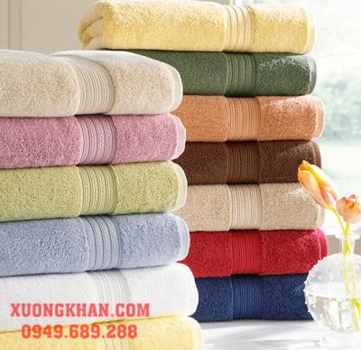 Khăn tắm 100% Cotton Mềm mại Hút nước