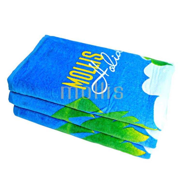 Bộ khăn bông mollis cotton xén in cao cấp