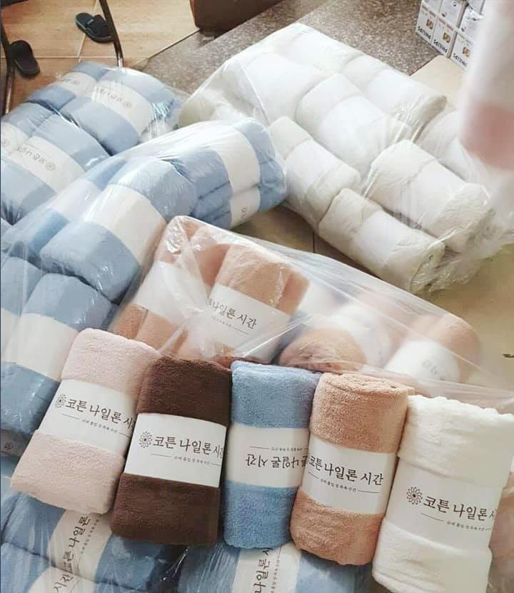 Khăn bông xuất khẩu Hàn Quốc Nhật Bản