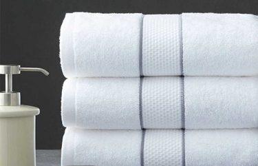 Khăn khách sạn 100% Cotton Thêu dệt Logo sang trọng