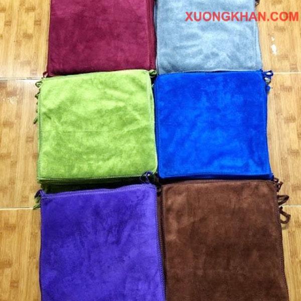 Thêu logo đẹp cho khăn làm nail