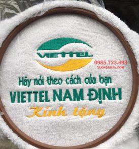 Khăn bông quà tặng thêu Logo Viettel cao cấp