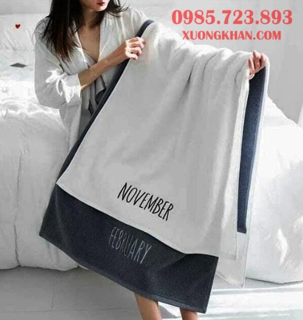 Kích thước khăn tắm tiêu chuẩn